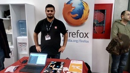 Me as Mozilla Rep at stand (@adiloztaser)